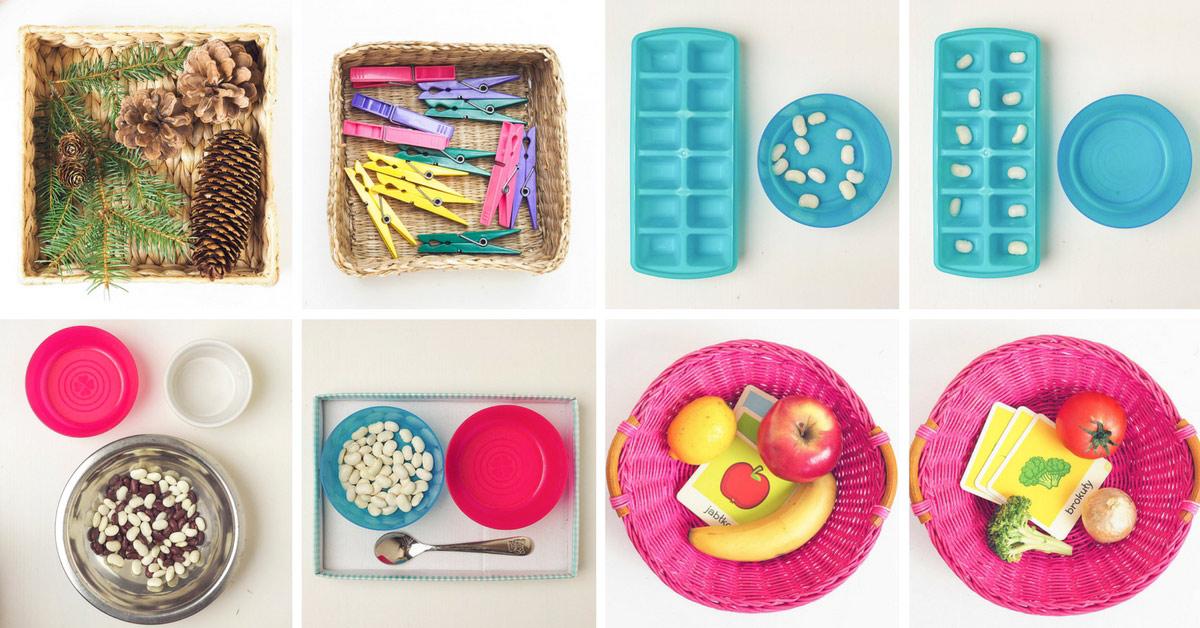 Proste zabawki DIY inspirowane pedagogiką Montessori (wiek 18-24 mcy)